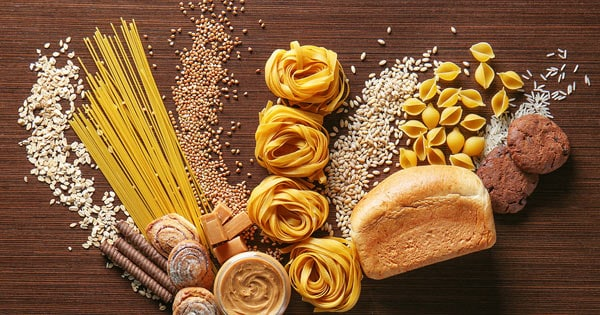 Images of Complex Carbohydrates such as bread, pasta, and grains