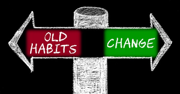 Change Bad Habits Concept Image
